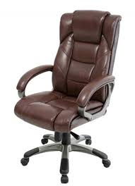 Leather Office Chair Northland Brown Leather Office Chair Aoc6332 L Br