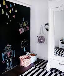 tableau chambre peinture à tableau noir sur mur chambre fille