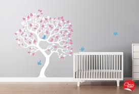 Decals For Walls Nursery Baby Nursery Decor Blue Soft Light Color Bird Baby