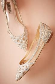 wedding shoes no heel gorgeous cutout embellished bridal flats an option to wear all