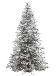 flocked color artificial trees