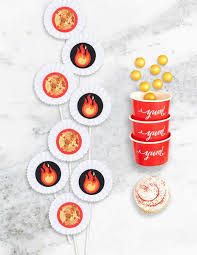 firefighter cupcake toppers truck party in a box buy truck birthday party supplies