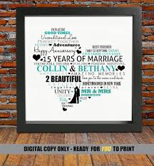 15 year anniversary ideas 15 wedding anniversary gift wedding gifts wedding ideas and