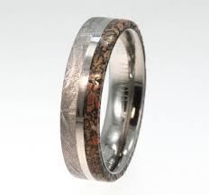 meteorite wedding band meteorite dinosaur bone rings dudeiwantthat