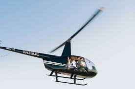 would you take a helicopter to elope on a secluded island green