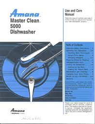 amana dishwasher 5000 user guide manualsonline com