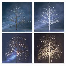 white tree with lights konstsmide outdoor decorative twig tree with natural white led fairy