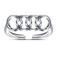 audi rings buy fashion audi ring for s white platinum 925