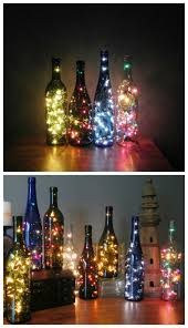 diy wine bottle string lights all created