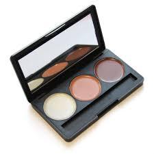 3 colors beauty face cream makeup concealer palette contour kit