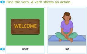 ixl identify action verbs 1st grade language arts practice