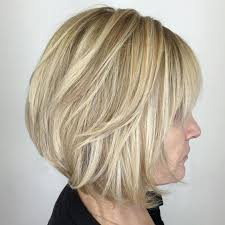 popular short haircuts for women over 40 with thick hair short
