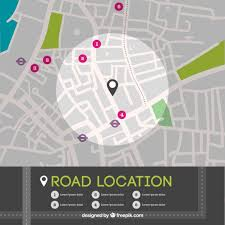map in road road location map in top view vector free
