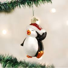 amazon com old world christmas dancing penguin glass blown