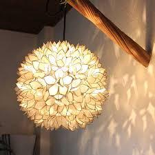 shell ceiling light caran2 rakuten global market shell flower pendant lights h38cm