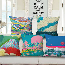 chinese style painting cushions cover cojines decorativos