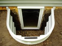 Basement Well Windows - exterior design chic egress window wells with white frame and
