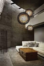 creative hanging lights in living room room design ideas photo