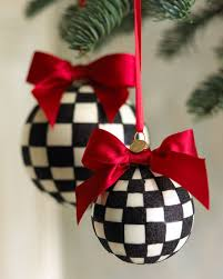 Large Christmas Ball Ornaments by Mackenzie Childs Large