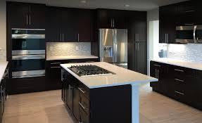 espresso kitchen cabinets with white countertops home custom cabinets semi custom cabinets
