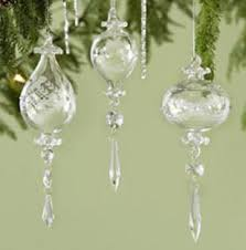 keeping it realtor beautiful etched blown glass tree baubles and