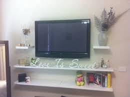 shelf under tv home design