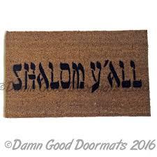 shalom y u0027all funny jewish novelty welcome doormat