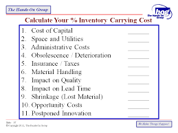 inventory carrying cost calculator the hands on group