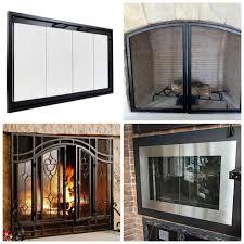 fireplace door glass replacement best fireplace glass doors
