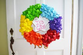 balloon wreath how to make a rainbow balloon wreath for a new baby a tired