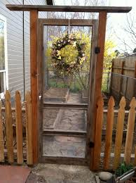 my new garden gate made from an old screen door how does your