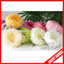 flowers in bulk various color peony flower bloom bulk silk flowers wholesale buy