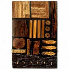 buy key holder made from rustic wooden pieces in