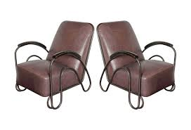 Mid Century Large Leather Chairs Omero Home