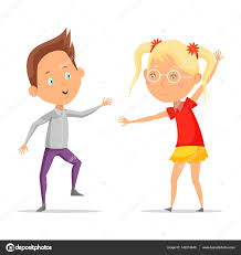 imagenes en movimiento bailando niños bailando o dibujos animados chico con chica en movimiento