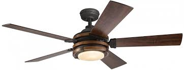 kichler barrington ceiling fan 52 in ceiling fan distressed black and wood indoor downrod kichler