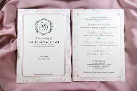 wedding invitations jakarta wedding invitation design jakarta fresh wedding invitation by the