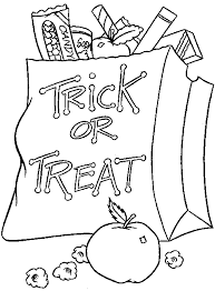 trick treat halloween coloring pages trick treat halloween