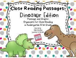 close reading passages dinosaur edition freebie free stuff to