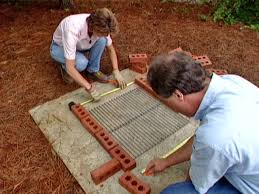 How To Build A Horseshoe Pit In Your Backyard How To Build A Brick Barbecue How Tos Diy
