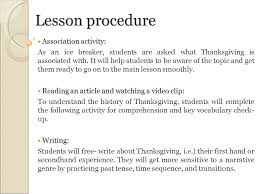 mini project 2 theme based lesson thanksgiving chrystal vance eun