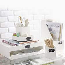 wooden desk accessories pbteen
