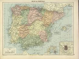 Map Of Spain And Portugal Hipkiss U0027 Scans Of Old Maps