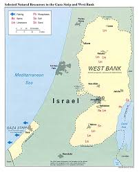 Map Of Palestine Israel Gaza Strip Gaza Strip And The West Bank Selected Natural
