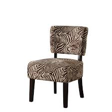 Zebra Accent Chair Shop Linon Kenya Brown Zebra Accent Chair At Lowes