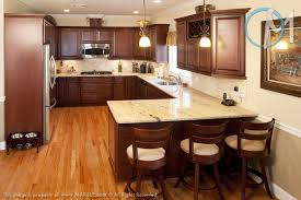 Kitchen Cherry Cabinets This Simple And Functional Kitchen Features Astoria Granite