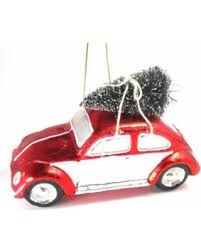 sale and white vw bug with tree glass