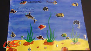 draw under water scene project for kids jk easy craft