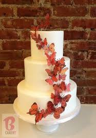hand painted butterfly 24 assorted sizes butterfly wedding cake