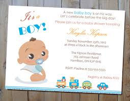 baby boy shower invitation baby shower invitation card